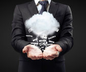 Cloud in hand — Stock Photo