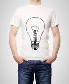 T-shirt with bulb — Stock Photo