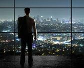 Nacht stad — Stockfoto
