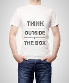 Man in t-shirt — Stock Photo