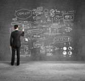 рисование бизнес план — Стоковое фото