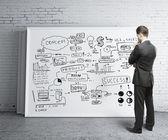 Escritorio de estrategia empresarial — Foto de Stock
