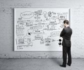 Plakat strategii firmy — Zdjęcie stockowe