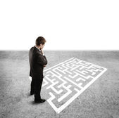 Man and labyrinth — Stock Photo