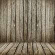 Gray wooden room — Stock Photo