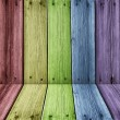Color wooden room - Stock Photo