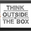 Think outsite box — Stock Photo
