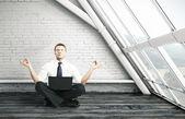 Meditação do empresário — Fotografia Stock