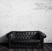 Leather sofa — Stock fotografie