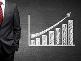 Muž a růst — Stock fotografie