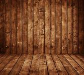 Brown wooden room — Stock Photo
