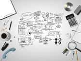 Scheme business strategy — Stock Photo