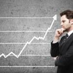 Businessman and scheme profits — Stock Photo #15337459