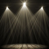 Three stage spot lighting — Stock Photo