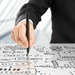 Drawing plan strategy — Stock Photo #16207119