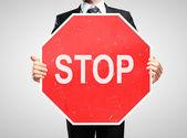Stop-schild — Stockfoto