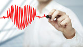 Heart and chart heartbeat — Stock Photo