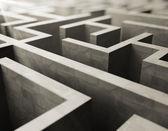 Gray labyrinth — Stock Photo