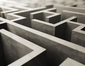 Gray labyrinth — Stockfoto