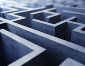 Blue labyrinth — Stockfoto