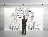 Globala koncept på bakgrund — Stockfoto