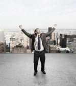 Happines businessman — Stock Photo