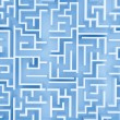 Blue labyrinth — Stock Photo