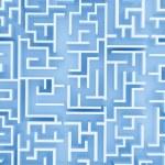 Blue labyrinth — Stock Photo #16723223