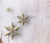 Wood snowflakes — Stock Photo