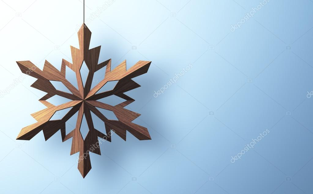 Christmas background with snowflake and with place for you text — Stock Photo #17177211