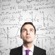 Man o and formulas — Stock Photo