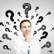 Man with question mark — Stock Photo #17371219