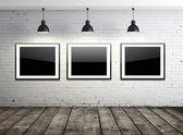 Three glass frame — Stock Photo