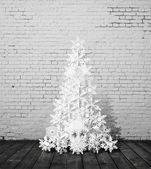 Paper christmass tree — Stock Photo