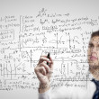 Stock Photo: Mdrawing mathematical formulas