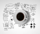 Business and coffee — Stock Photo