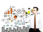 Desenho de conceito de negócio — Fotografia Stock