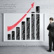 Poster with growth chart — Stock Photo #18579303