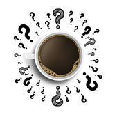 Coffee and drawing question — Stock Photo
