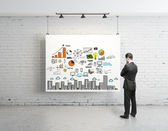 Business strategy on poster — Stock Photo