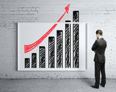 Poster with growth chart — Stock Photo