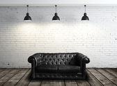 Leather sofa in room — Stock Photo