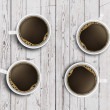 Four cups of coffee — Stock Photo #18676873
