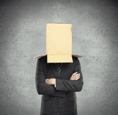 Box on head — Stock Photo