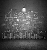 Disegno città di concetto — Foto Stock