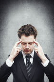 Thinking businessman — Stock Photo