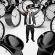 Stock Photo: Mand clocks