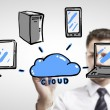 Stock Photo: Cloud computing diagram