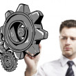 Drawing gears — Stock Photo