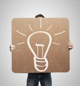 Rysunek lampa — Zdjęcie stockowe